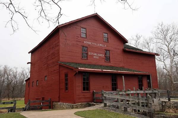 Bonneyville Mill Wall Art - Photograph - Bonneyville Mill Indiana 1832 by Dwight Cook