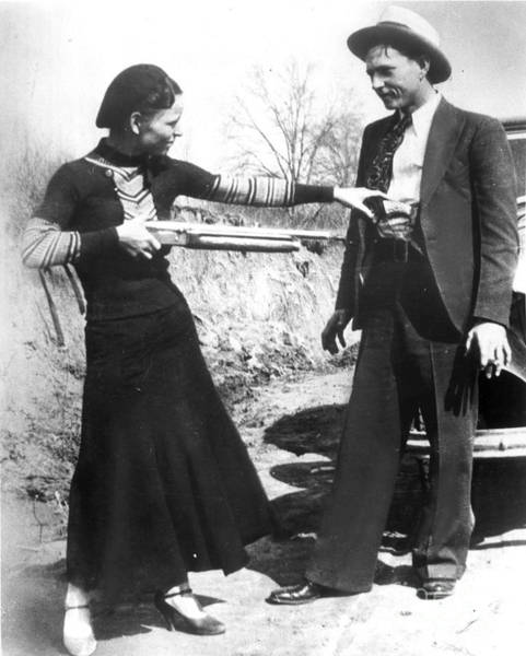Photograph - Bonnie And Clyde, 1933 by Granger