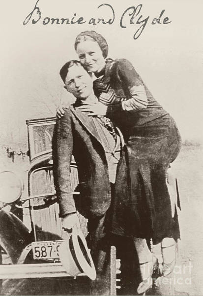 Gunslinger Photograph - Bonnie And Clyde by Mindy Sommers