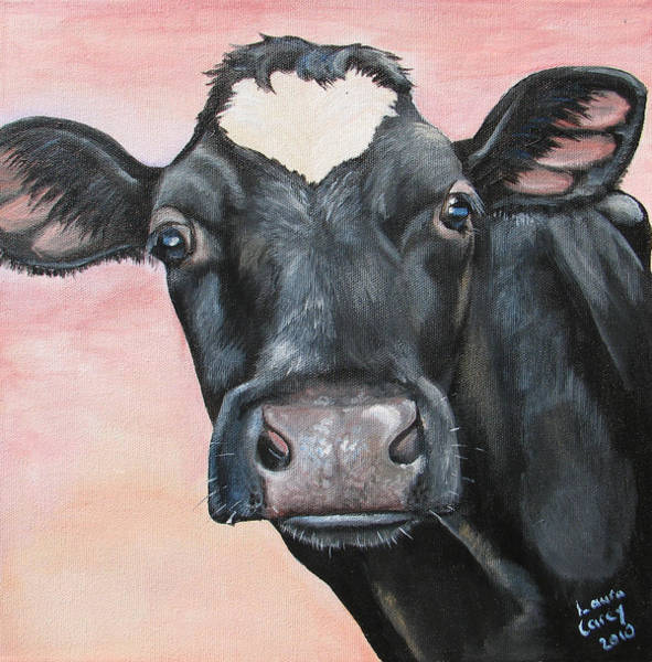 Holstein Wall Art - Painting - Bonnie Bell by Laura Carey