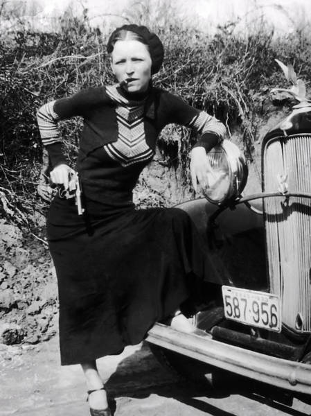 Cigar Photograph - Bonnie Parker  1910 - 1934 by Daniel Hagerman