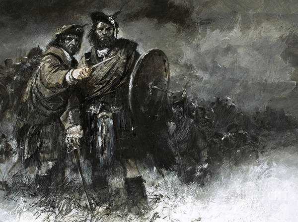 Rebel Painting - Bonnie Prince Charlie At Culloden by Neville Dear