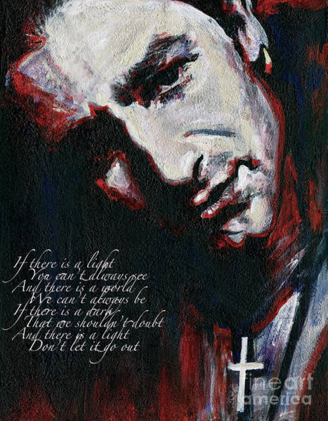 Painting - Bono - Man Behind The Songs Of Innocence by Tanya Filichkin