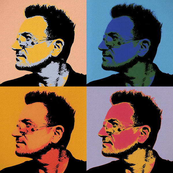 Wall Art - Painting - Bono Pop Panels by Dan Sproul