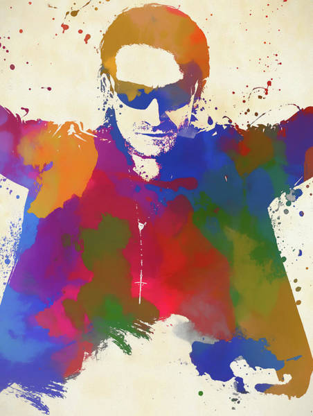 Wall Art - Painting - Bono Watercolor by Dan Sproul