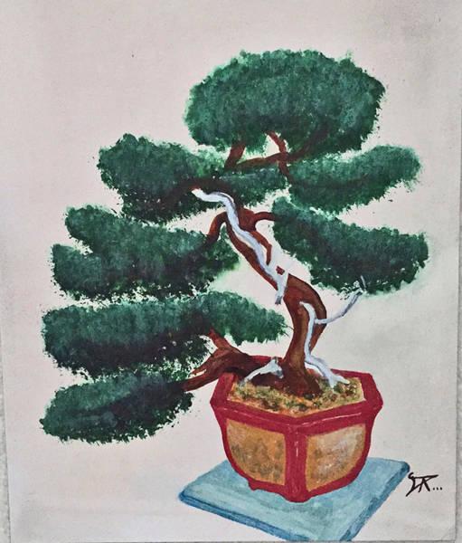 Painting - Bonsai #3 by Donald Paczynski