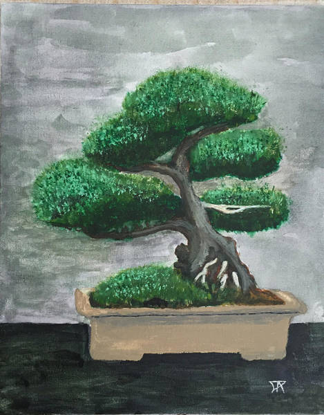 Painting - Bonsai #2 by Donald Paczynski