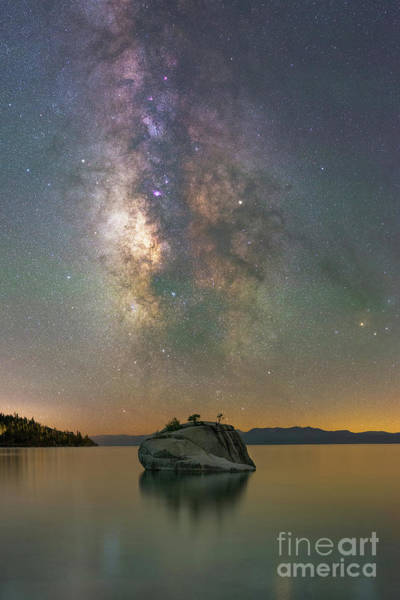 Photograph - Bonsai Rock Milky Way  by Michael Ver Sprill
