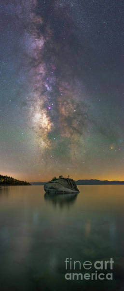 Photograph - Bonsai Rock Milky Way Pano by Michael Ver Sprill