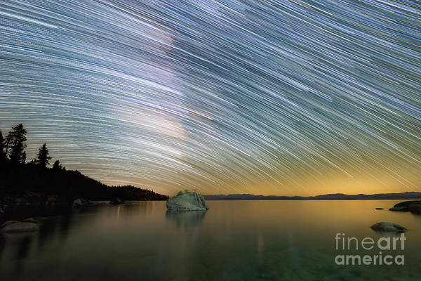 Photograph - Bonsai Rock Star Trails by Michael Ver Sprill