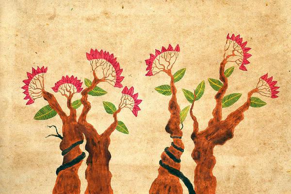 Bonsai Tree Digital Art - Bonsai Series 6 Vintage 2 by Sumit Mehndiratta