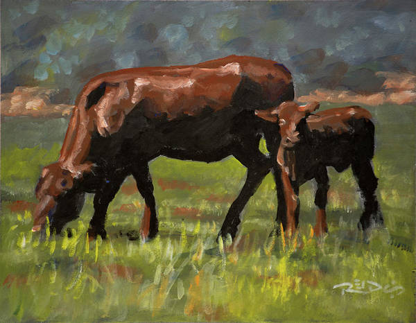 Painting - Bonsmara by Christopher Reid