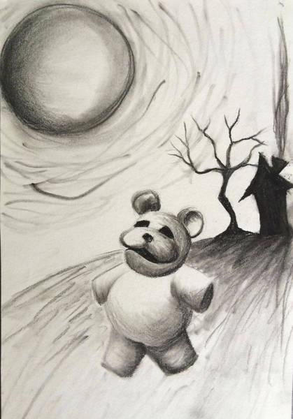 Trick Or Treat Drawing - Boogie Bear by Tonya Walter