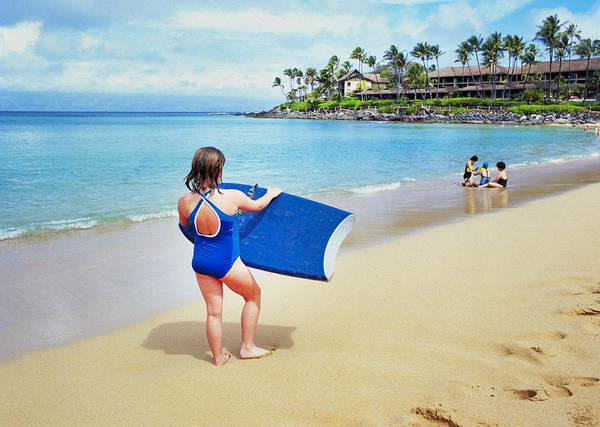 Napili Bay Photograph - Boogie Board Girl by Buddy Mays