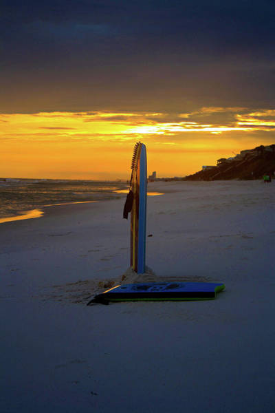 Bodyboard Photograph - Boogie Boards At Sunset by Selena Wagner