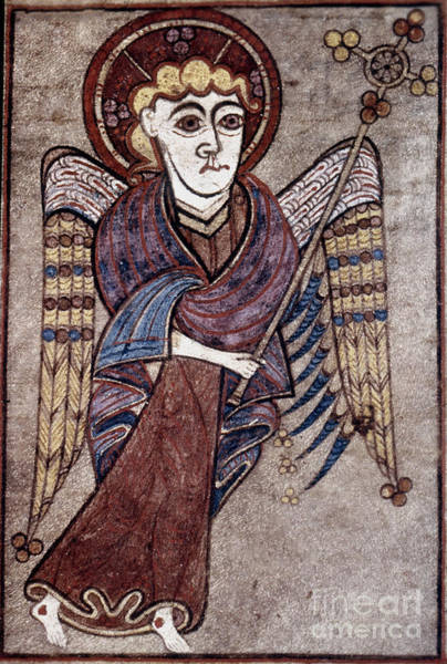 Painting - Book Of Kells: St. Matthew by Granger