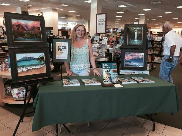 Painting - Book Signing In Lahaina by Darice Machel McGuire