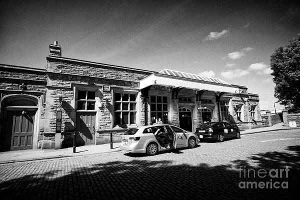 Wall Art - Photograph - booking office and upper entrance Lancaster railway station england uk by Joe Fox
