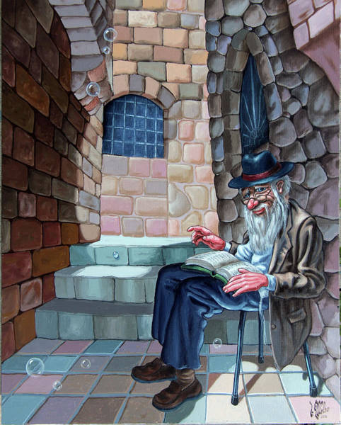Painting - Bookish Man by Victor Molev