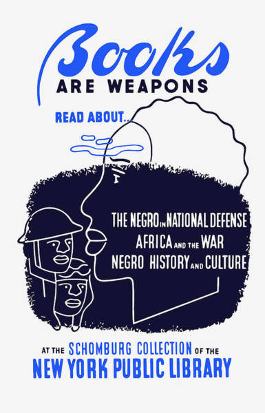African American Wall Art - Painting - Books Are Weapons - Wpa by War Is Hell Store