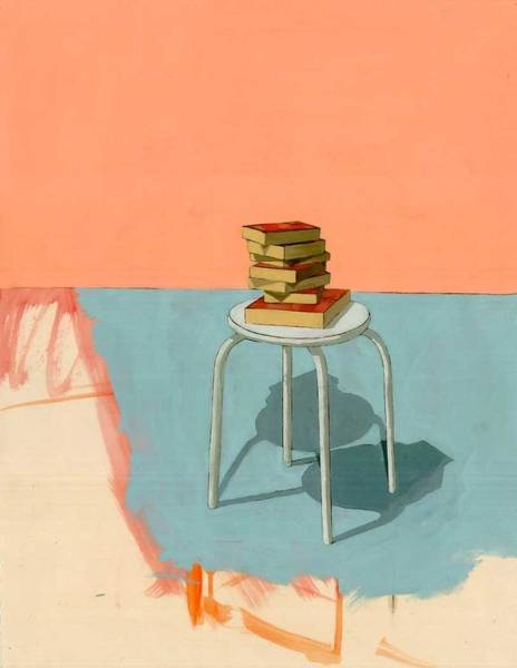 Wall Art - Painting - Books  by Adrienne Romine