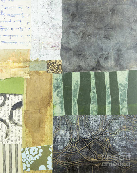 Monoprint Mixed Media - Books Inside Out 3 by Elena Nosyreva