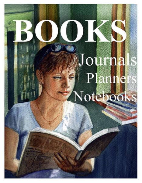 Painting - Books Journals Notebooks By Irina Sztukowski by Irina Sztukowski