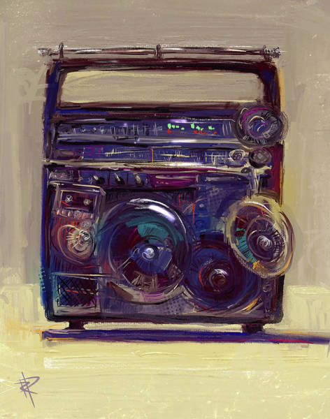 Rap Mixed Media - Boom Box by Russell Pierce