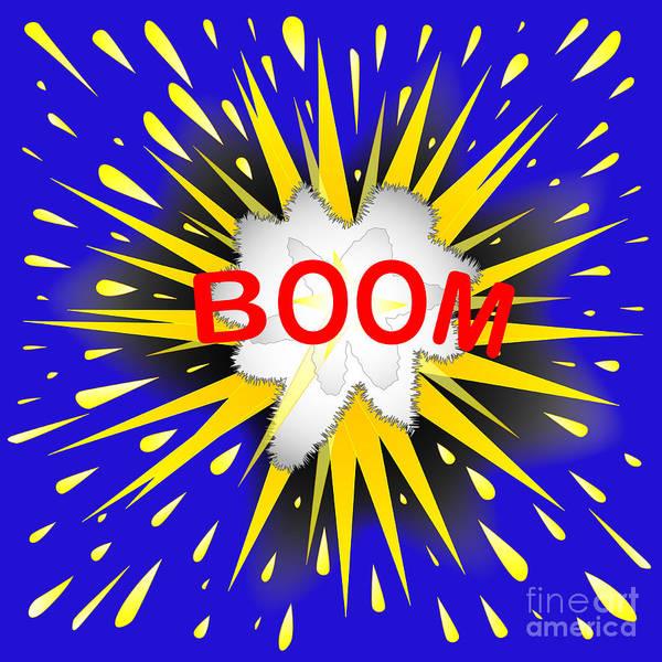 Detonation Digital Art - Boom Cartoon Bubble by Bigalbaloo Stock