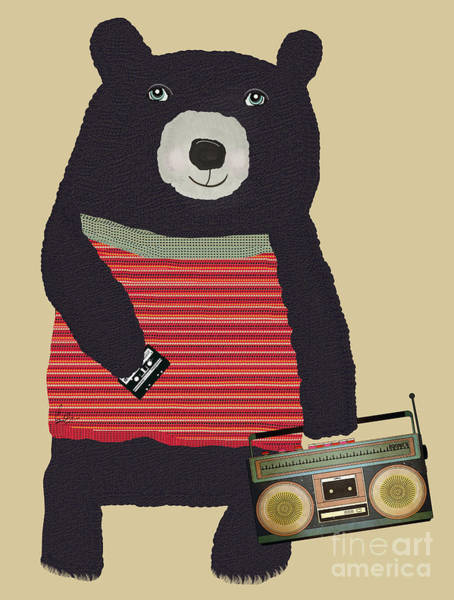 Pod Wall Art - Painting - Boomer Bear  by Bri Buckley