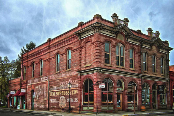 Boomtown Saloon Jacksonville Oregon Usa Art Print
