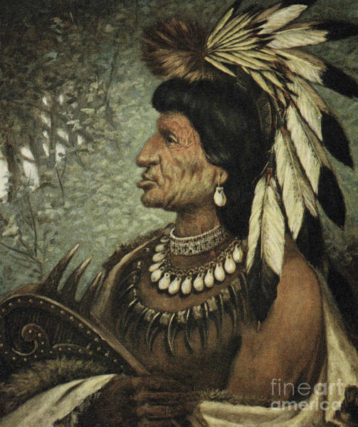 Wall Art - Painting - Boonark, Chieftain Of The Bannock by American School