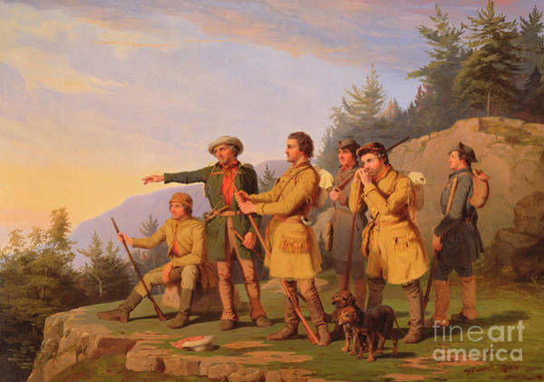 Daniel Wall Art - Painting - Boone's First View Of Kentucky by William Tylee Ranney