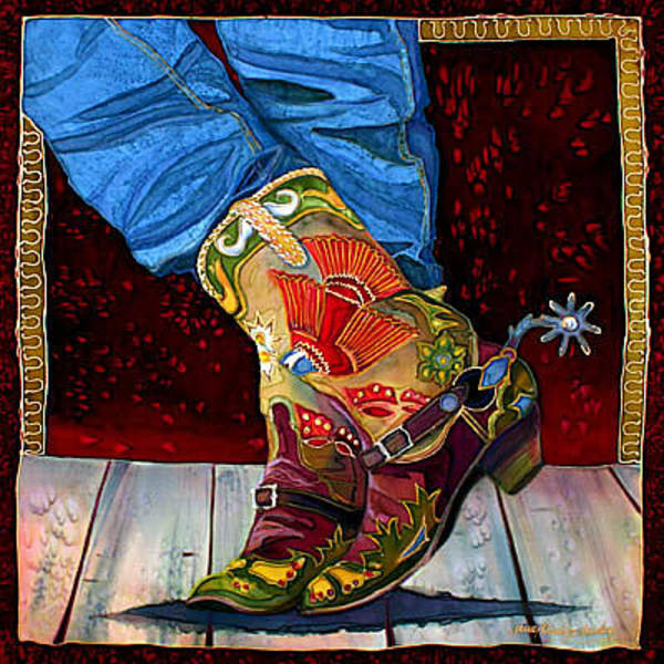 Painting - Boot Fancy by Nancy Cawdrey