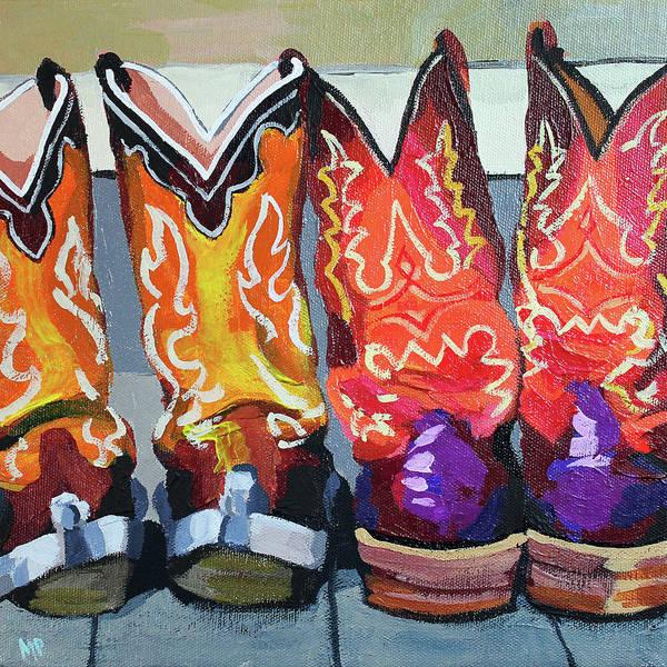 Wall Art - Painting - Boot Heels by Melinda Patrick