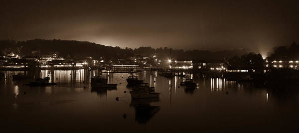 Photograph - Boothbay Harbor At Night by Kyle Lee