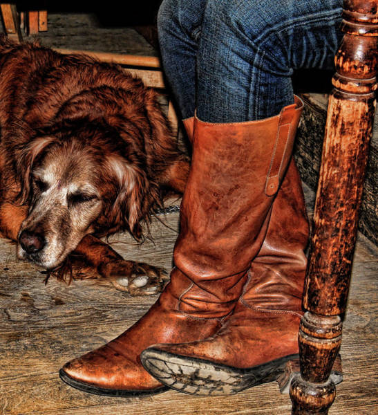 Dog Walker Photograph - Boots And Buddy by Judy Vincent