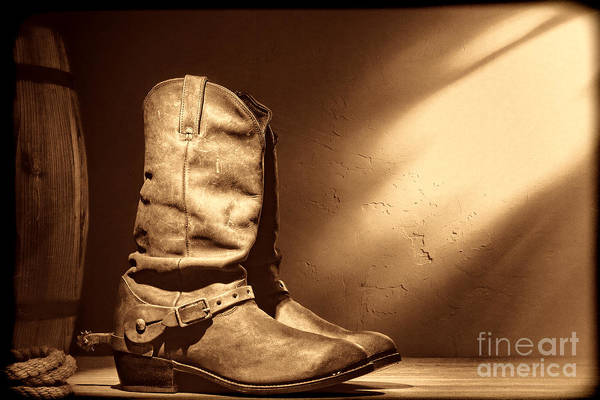 Photograph - Boots At The Hacienda  by American West Legend By Olivier Le Queinec