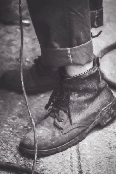 Wall Art - Photograph - Boots Of A Working Man Artistic by Joan Carroll