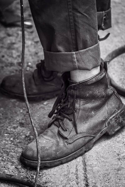 Photograph - Boots Of A Working Man by Joan Carroll