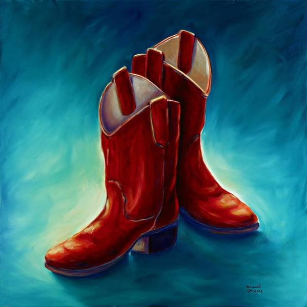 Wall Art - Painting - Boots by Shannon Grissom