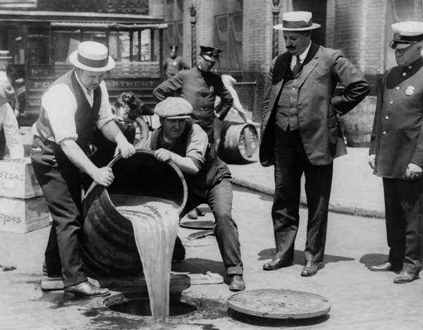 Era Photograph - Booze Dump - Vintage Prohibition Photo by War Is Hell Store
