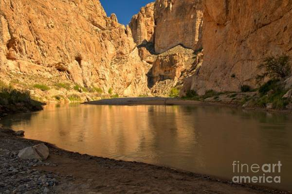 Photograph - Boquillas Golden Reflections by Adam Jewell