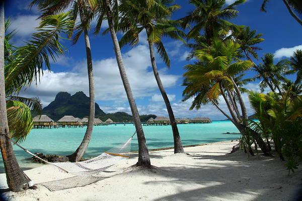 Tahiti Wall Art - Photograph - Bora Bora Beach Hammock by Owen Ashurst