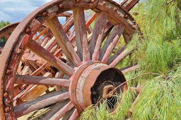 Photograph - Borax Museum Wagon Wheel by Kyle Hanson
