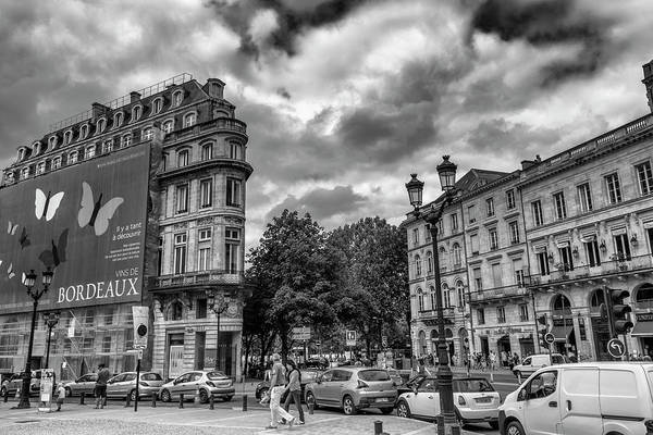 Photograph - Bordeaux Cityscape In Mono by Georgia Fowler