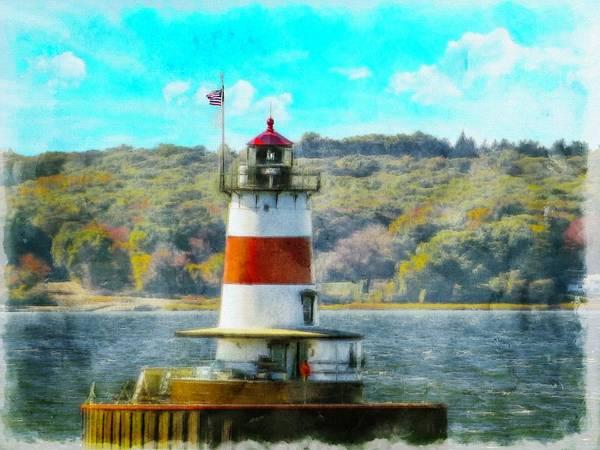 Digital Art - Borden Flats Lighthouse by Rusty R Smith