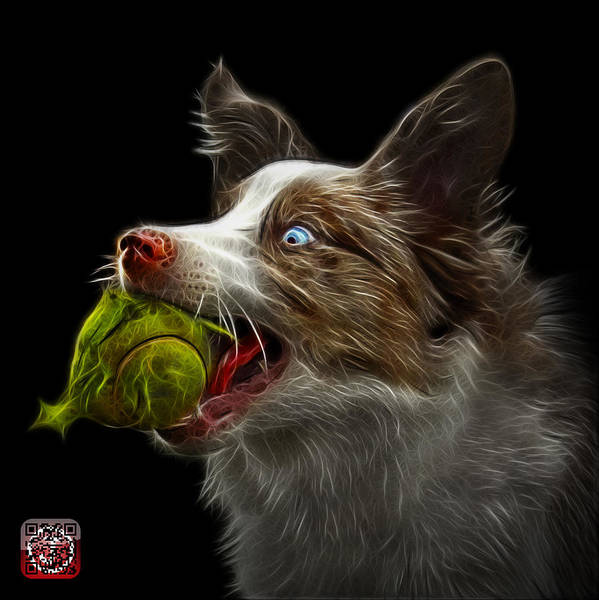 Painting - Border Collie -  Elska - 9847 - Bb by James Ahn