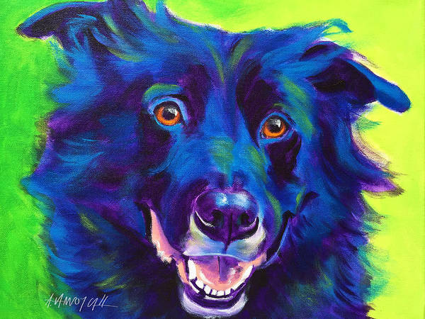 Wall Art - Painting - Border Collie - Viktor by Alicia VanNoy Call