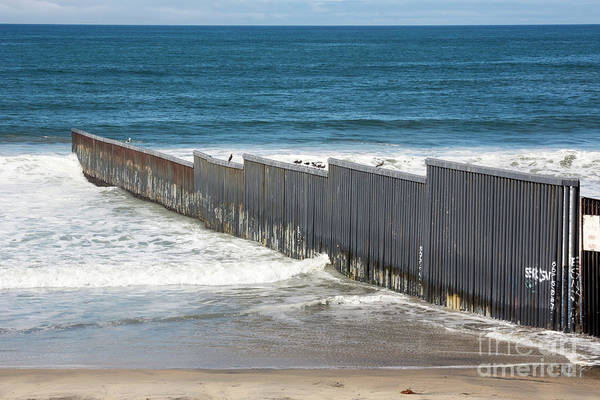Photograph - Border Fence by Jim West
